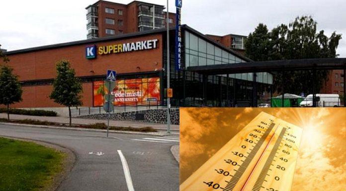Διανυχτέρευση σε σούπερ μάρκετ εξαιτίας του καύσωνα