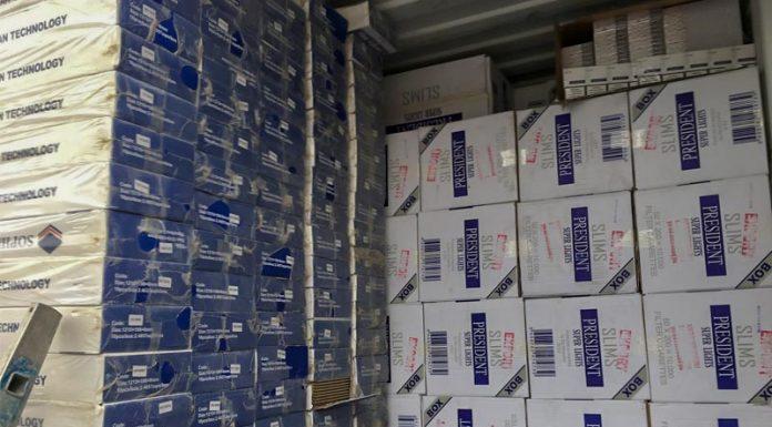 Εκατομμύρια λαθραία τσιγάρα με έγγραφα... πατώματος