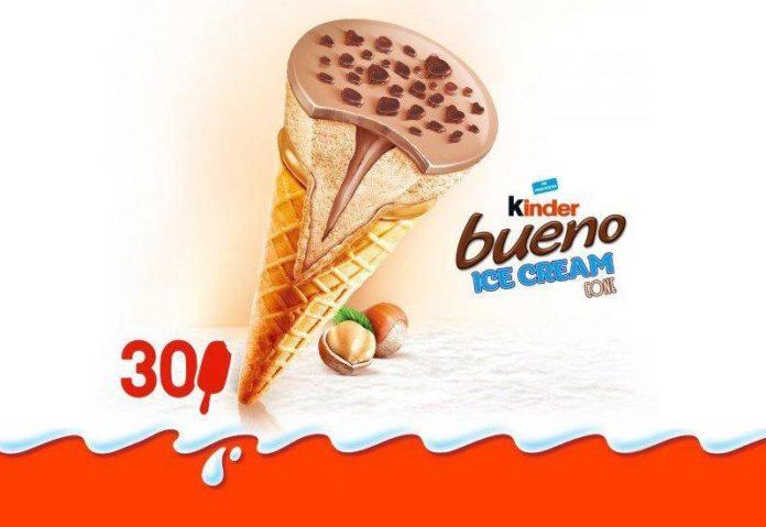 Νέα παγωτά Kinder Bueno