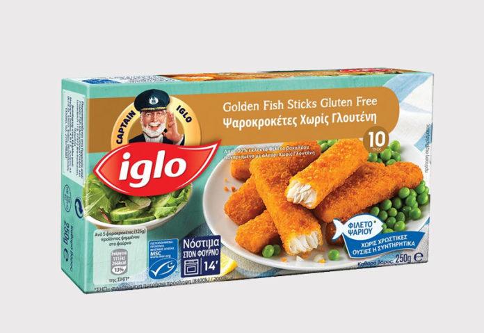 Κροκέτες ψαριού Captain Iglo χωρίς γλουτένη