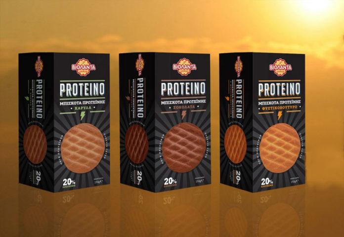 Μπισκότα με πρωτεΐνη από τη Βιολάντα