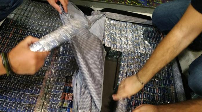 """Λαθραία τσιγάρα σε βαλίτσες στο """"Μακεδονία"""""""