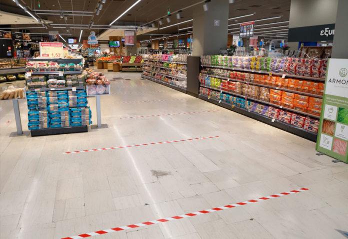 Ξεφουσκώνουν οι επισκέψεις στα σούπερ μάρκετ