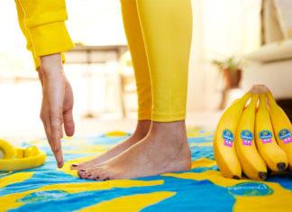 Μπανάνες Chiquita με θεματικά fitness αυτοκόλλητα