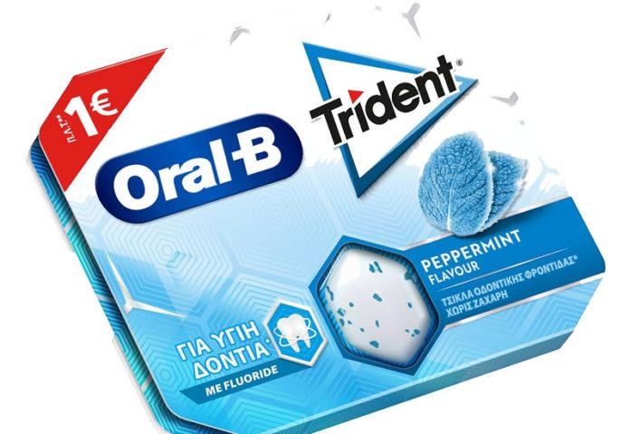 Τσίκλα Trident Oral-B χωρίς ζάχαρη